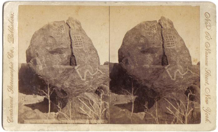 Charl Malan Stereoview Painted Rocks Of Arizona 1880s